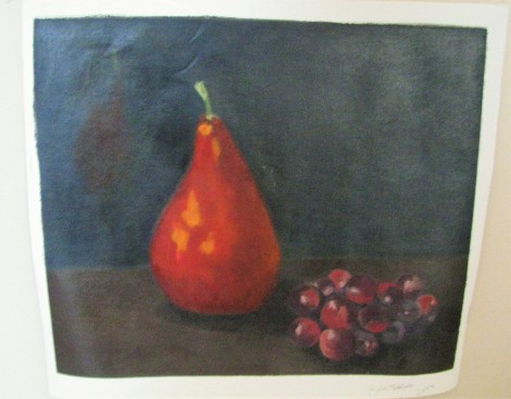 Pear and grapes - oils
